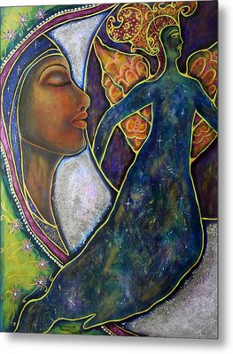 Our Lady Of Moonlit Mysteries Metal Print by Marie Howell Gallery