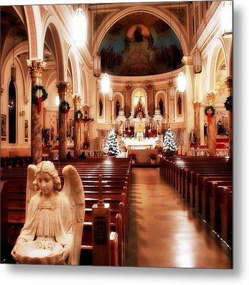 Metal Print featuring the photograph Our Lady Of Mount Carmel Church At Christmas by Aurelio Zucco
