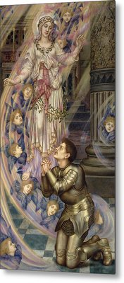 Our Lady Of Peace Metal Print by Evelyn De Morgan