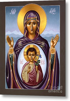 Metal Print featuring the painting Our Lady Of The New Advent Gate Of Heaven 003 by William Hart McNichols