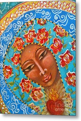 Our Lady Of The Roses Metal Print by Maya Telford