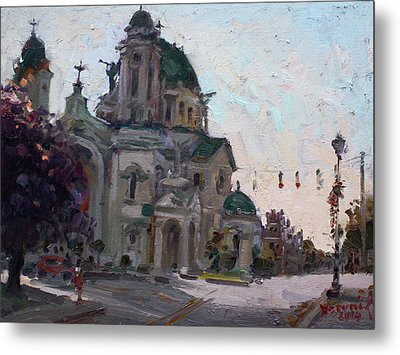 Our Lady Of Victory Basilica Metal Print by Ylli Haruni