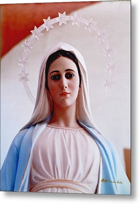 Our Lady Queen Of Peace Statue Metal Print