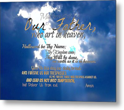 Our Lords Prayer Metal Print by Sharon Soberon