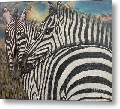Our Stripes May Be Different But Our Hearts Beat As One Metal Print by Kimberlee Baxter