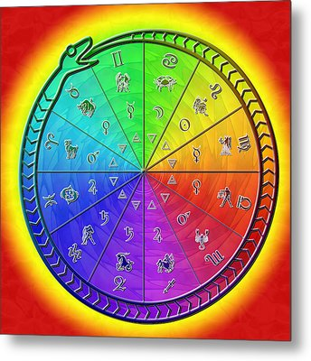 Ouroboros Alchemical Zodiac Metal Print