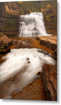 Metal Print featuring the photograph Ousel Falls by Aaron Whittemore