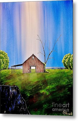 Out At The Farm Metal Print