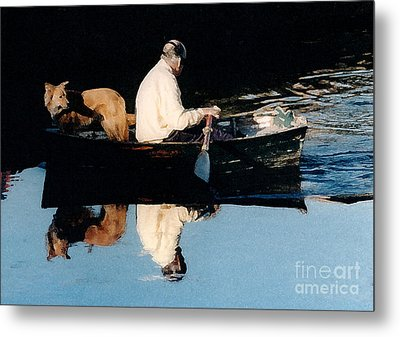 Out For A Boat Ride Metal Print by Susan Crossman Buscho