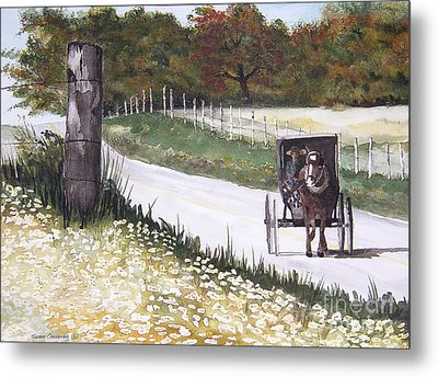 Out For A Ride Metal Print by Susan Crossman Buscho
