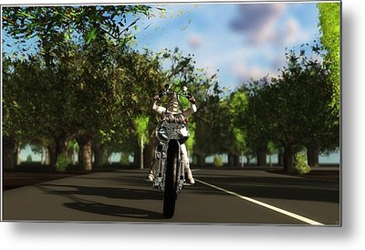 Metal Print featuring the digital art Out For A Ride... by Tim Fillingim