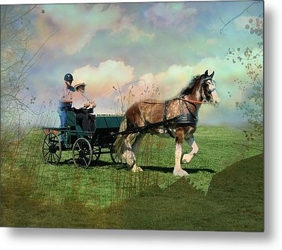Out For A Trot Metal Print by Shirley Sirois