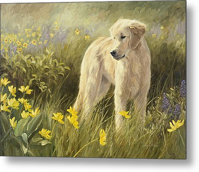 Out In The Field Metal Print by Lucie Bilodeau