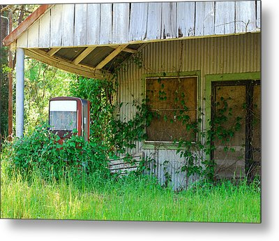 Out Of Business Metal Print by Connie Fox
