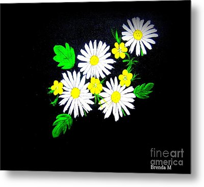 Out Of The Darkness Comes Light Metal Print by Brenda Mayall