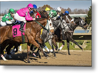 Metal Print featuring the photograph Out Of The Gate by Phil Abrams
