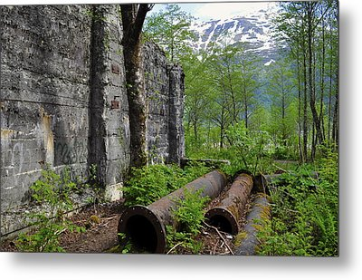 Metal Print featuring the photograph Out From The Past by Cathy Mahnke