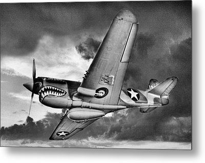 Out Of The Storm Bw Metal Print by JC Findley