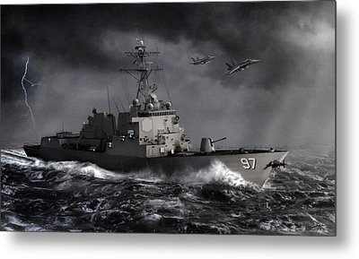 Out Of The Storm Metal Print by Dale Jackson