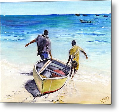 Out To Sea Metal Print by Richard Jules