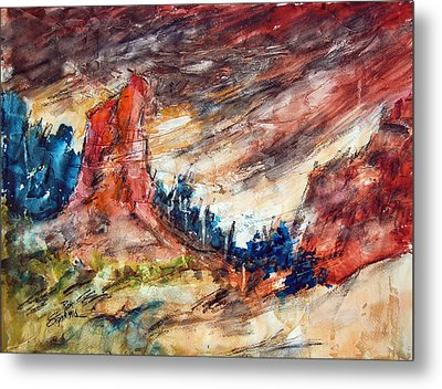 Out West Metal Print by Ron Stephens