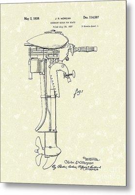 Outboard Motor 1939 Patent Art Metal Print