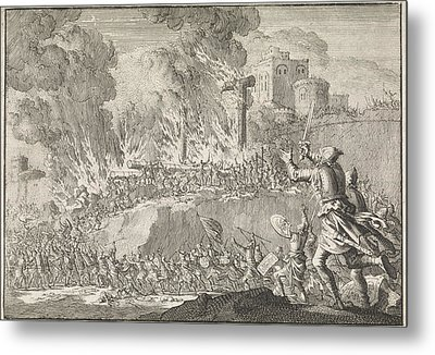 Outburst Of The Jews From Jerusalem, Jan Luyken Metal Print