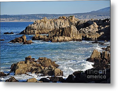 Outcroppings At Monterey Bay Metal Print