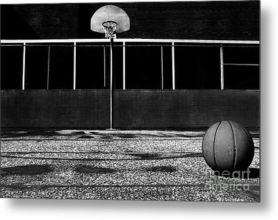 Outdoor Basketball Court Metal Print by Danny Hooks