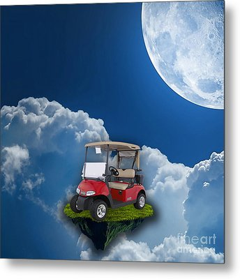 Outdoor Golfing Metal Print by Marvin Blaine