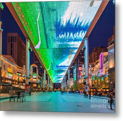 Outdoor Lcd Screen In Beijing China Metal Print by Fototrav Print