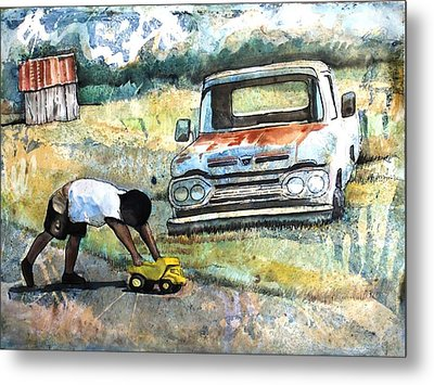 Outdoor Play'n Trucks Metal Print by Ron Carson