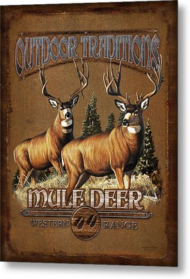 Outdoor Traditions Mule Deer Metal Print