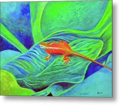 Outer Banks Gecko Metal Print