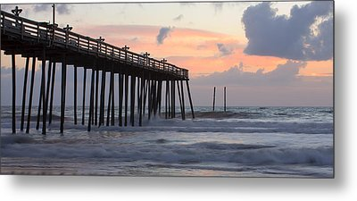 Outer Banks Sunrise Metal Print by Adam Romanowicz