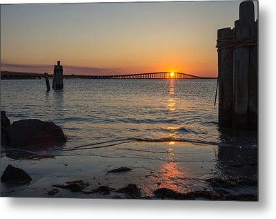 Outer Banks Sunset Metal Print by Gregg Southard
