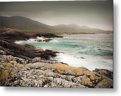 Outer Hebrides Waves Metal Print by Ray Devlin