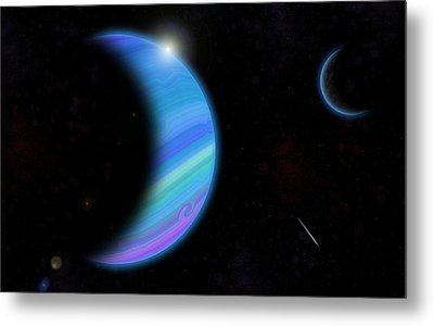 Outer Space Dance Digital Painting Metal Print