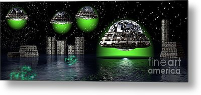 Metal Print featuring the digital art Outer Space by Jacqueline Lloyd