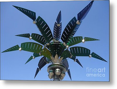 Outer Space Palm Metal Print by Ann Johndro-Collins