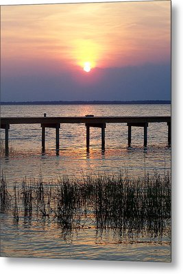Metal Print featuring the photograph Outerbanks Nc Sunset by Sandi OReilly