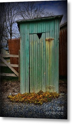 Outhouse - 6 Metal Print by Paul Ward