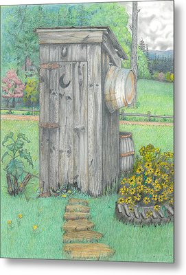 Outhouse Metal Print by David Gallagher