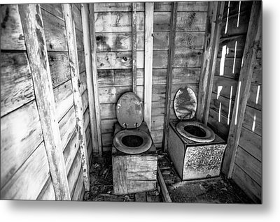 Metal Print featuring the photograph Outhouse by Robert  Aycock
