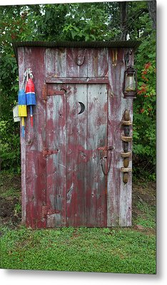 Outhouse Shed In A Garden, Marion Metal Print