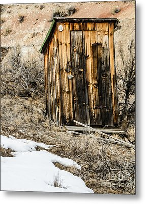 Outhouse With Electricity Metal Print