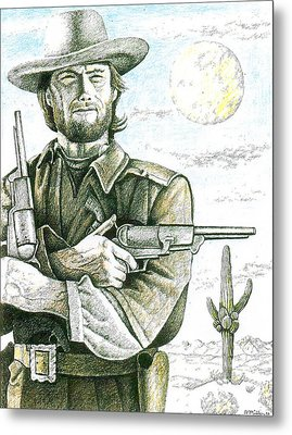 Outlaw Josey Wales Metal Print by Bern Miller