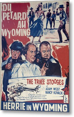 Outlaws Is Coming Metal Print by Official Three Stooges