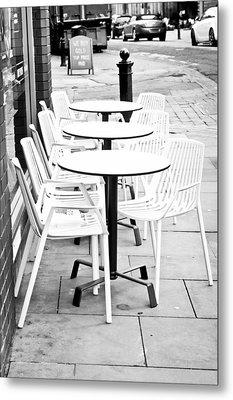 Outside Cafe Metal Print