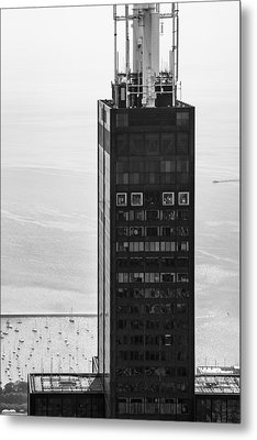 Outside Looking In - Willis Tower Chicago Metal Print by Adam Romanowicz